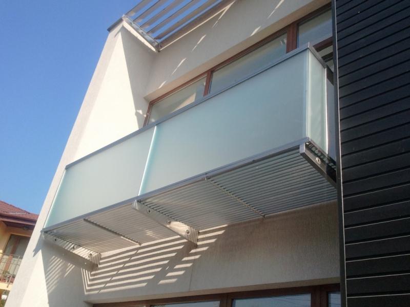Balcon inox sticla satinata 1
