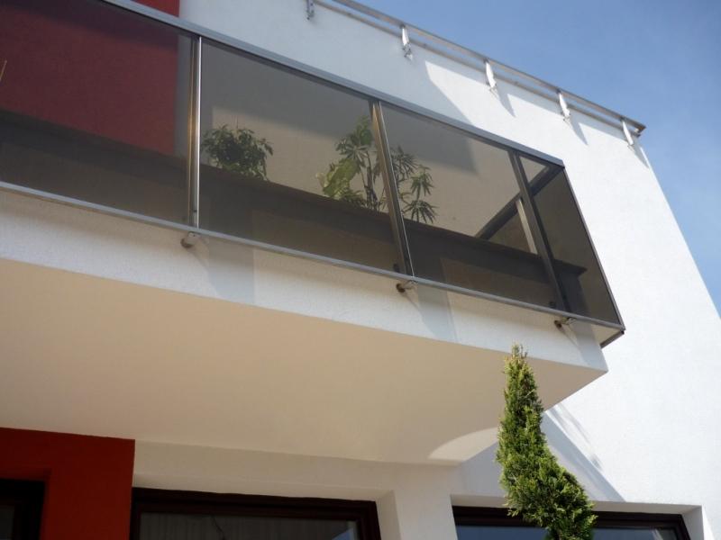 Balustrada din inox cu sticla 1