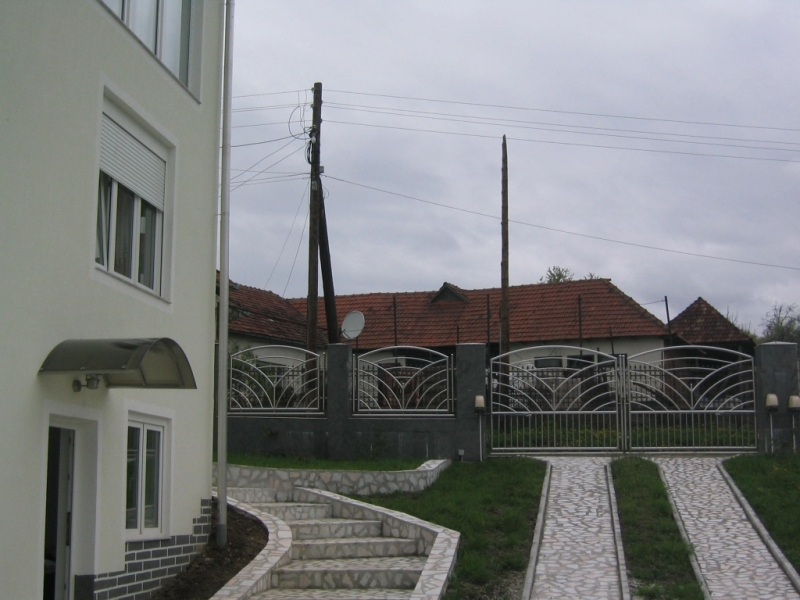 Poarta si gard din otel lustruit 3